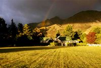 Grasmere Luxury Lodge, Arthur's Pass, New Zealand - This high-country retreat, approximately one-and-a-half hours from the South Island city of Christchurch, is well worth the drive. Grasmere's location, at the base of the Southern Alps gives you a feeling of awe, with 7000 feet peaks towering above.     www.seasonz.co.nz/index.php/accommodation/13-accommodation/77-luxury-lodges