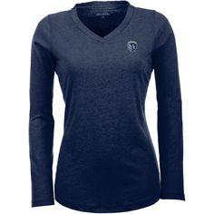 Antigua Women's Sporting Kansas City Flip Navy (Blue) Shirt, Size: Large