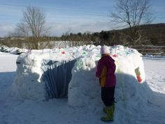 our snow fort