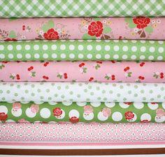 Sew Cherry Fabric by Lori Holt for Riley Blake Fat by fabricshoppe