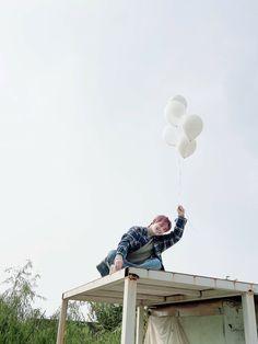 Line Japan, Line Timeline, Golden Child, Twitter, Yoshi, Kpop, Balloons, January, Peach