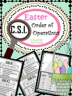 Math Classroom, Classroom Organization, Classroom Ideas, Easter Activities, Math Activities, Math Logic Puzzles, Order Of Operations, School Levels, Review Games
