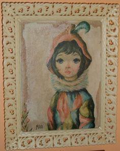 MAIO Brunette Harlequinn Framed print