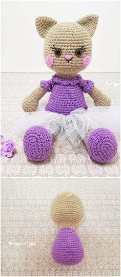 you are good at crocheting then here is a big list of free crochet cat patterns for you!Cat Doll Crochet Pattern