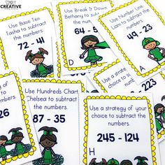 2-3 Digit Subtraction Strategies Place Value Activities, Father's Day Activities, Fun Summer Activities, Counting Activities, Subtraction Strategies, Addition Strategies, Student Problems, Hundreds Chart, Number Recognition