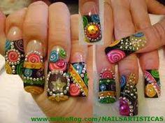 uñas decoradas con piedras ed hardy , Buscar con Google