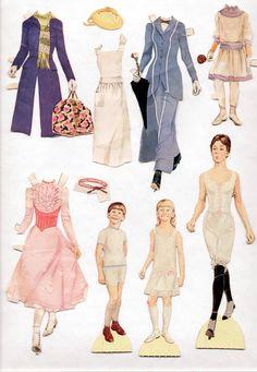 Vintage Watkins Strathmore Jane Michael Mary Poppins Paper Dolls 1964 Cut   eBay