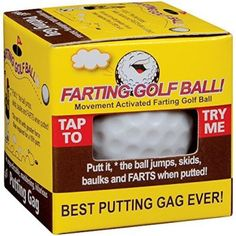 Farting Golf Ball Jumps Wobbles & Farts  - funny golf gifts for men   #golf
