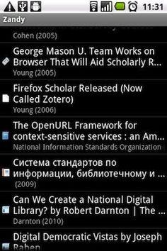 Apps para Zotero I