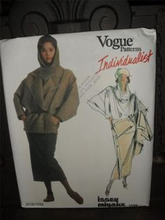 VOGUE INDIVIDUALIST Issey Miyake #1599 sz 14 Jacket, Top, Skirt, UN-CUT