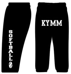 Custom Softball Sweatpants-Black-Adult Small by Fair Game. $26.99. Adult is 9.3 oz, 50/50 pocket sweats with jersey-lined side seam pockets, elastic waistband with inside draw cord and open at the ankles.Youth is 8 oz, 50/50 and has no pockets, no draw cord and elastic at the ankles.These sweatpants  can be personalized with any name requested (maximum of 13 characters). Softball graphic is on the left side leg and name is printed on the back. If customization is ...