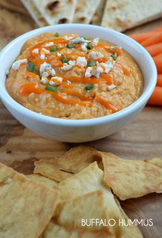 Buffalo Hummus Recipe: hummus is SO easy to make at home. Ten minutes, and BAM... you have a bowl of delicious, crowd-pleasing hummus!