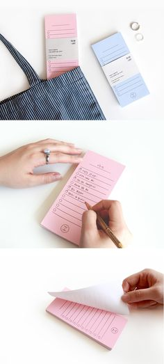 The simplicity and colorful nature of this Prelude To-do List Pad makes me never leave home without one in my purse! The pastel colored tone and the perfect size makes it really convenient for me to write a quick note whenever and wherever!