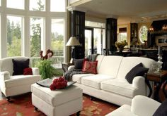 long narrow living room furniture arrangement | ... living room. A long, narrow living room becomes a Dual-purpose area