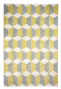Chiesa Yellow rug by Suzanne Sharp...featured on the Rug Company website