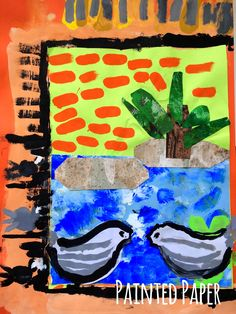 PAINTED PAPER: Positively Picasso's Pigeons