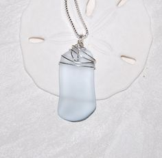 Very light blue recycled glass sea glass by BrokenBottleDesigns, $10.00
