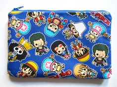 Pencil/Cosmetics Case One Piece Anime Luffy Nami by SewTime