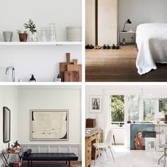 Top to bottom, left to right: 1. The loveliest front door and first impression 2. Warm wood details that bring a fall feel into the kitchen 3. An ad man's simple and elegant Hamburg apartment 4. Th...