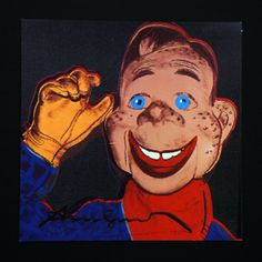 Andy Warhol Howdy Doody Signed Bookplate