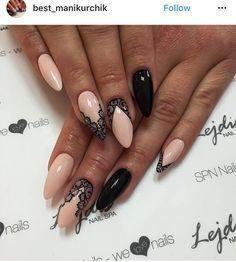 Nail Shapes - My Cool Nail Designs Beige Nails, Lace Nails, Stiletto Nails, Lace Nail Art, Nail Art Design Gallery, Best Nail Art Designs, Almond Shape Nails, Almond Nails, Nails Shape