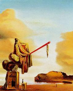 Untitled (Dreams on the Beach) - Salvador Dali #dali #paintings #art