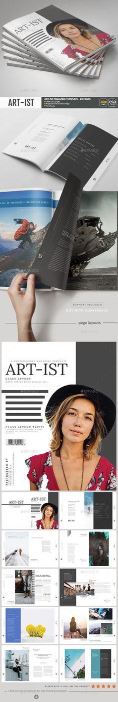 Art-ist Magazine Template V.18
