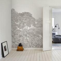 Bellewood, Grey Toile! #rebelwalls #wallpaper