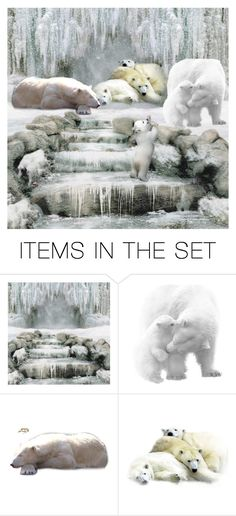 """""""Cozy and Safe For Now In the Wild"""" by enchanticals ❤ liked on Polyvore featuring art, Winter, polar, snow, ice and animals"""
