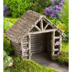 Found it at Wayfair - Miniature Fairy Garden Shed Statue