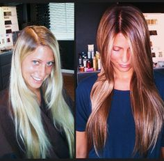 Hair Color Before and After | Great Change of Color | www.beautyvirtualdistributor.com