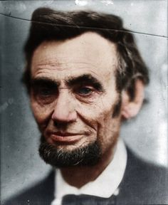 Abraham Lincoln - Denmark-based creative Mads Madsen, aka Zuzah, masterfully colorizes old black and white photos of well-known men and women throughout history.