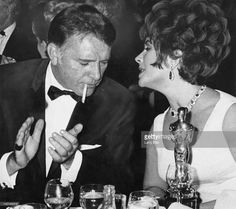 Married actors Elizabeth Taylor (1932 - 2011) and Richard Burton (1925 - 1984) attend the BAFTA Awards dinner at Grosvenor House in London, 26th April 1967. They won the Best British Actress and Best British Actor awards for their roles in 'Who's Afraid of Virginia Woolf?' and Taylor was also presented with an Academy Award (pictured) for the same part.