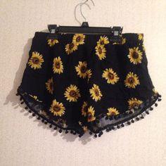 For Sale: Black Sunflower Shorts  for $14