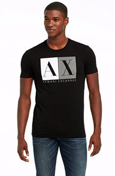 ba857333318cf5 Armani Exchange Mens Color Box Logo Tee Armani Exchange http   www.amazon