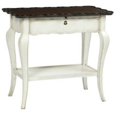 Belle Meade Lucille Lamp Table Vintage Ivory with Boddington