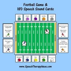 Football Game with 180 Speech Sound Cards
