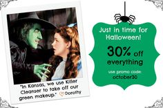 Halloween Special 30% off everything.