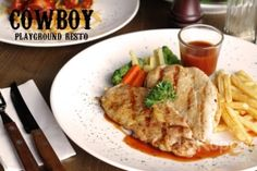 [Up to 46% Off] Enjoy Delicious Western Food for 2 Persons at Cowboy Playground Resto. Starting from Rp 86.000,-