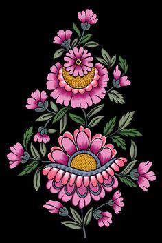 Textile Prints, Textile Design, Tie Dye Crafts, Creative Jobs, Marble Art, Hand Embroidery Patterns, Border Design, Flower Art, Folk Art