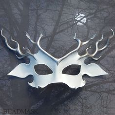 White Stag Leather Deer Mask, Horned God, Mythic Hart, Halloween Costume, Masquerade, Samhain by beadmask on Etsy https://www.etsy.com/listing/487160097/white-stag-leather-deer-mask-horned-god