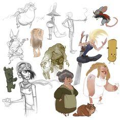 Flooby Nooby: The Art of Cory Loftis Portfolio Ideas (el pollito frankenstein y el osito zombi! :3)