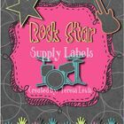These rock star themed labels are a fun way to redesign your classroom with a rockin theme!  There are ten different label sheets in all. ...