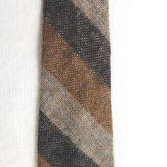 $6.99 .. Pride of England Brown Blue Gray Grey Diagonal Stripe Mens Wool Neck Tie   eBay