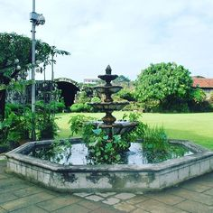 The #beautiful #fountain in the #puertoreal #garden in #Intramuros - the #OldTown of #Manila. #tbex #tbexph #itsmorefuninthephilippines #philippines #travel #travelphotography #nikon :heart::grinning::deciduous_tree: