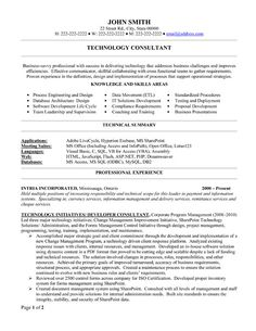 click here to download this technology consultant resume template httpwww - It Professional Resume Template