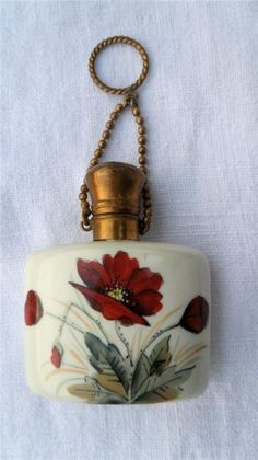 Antique Porcelain Chatelaine Scent Perfume Bottle C1900 | eBay
