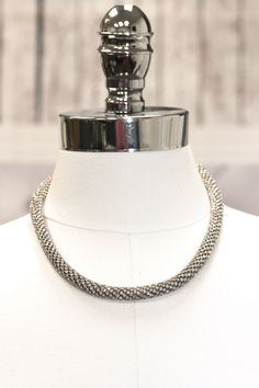 All Rhinestone Rope Necklace