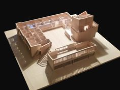 A Säynätsalo's Town Hall model. It was designed by the Finnish architect Alvar Aalto. Library Architecture, Amazing Architecture, Interior Architecture, Town Hall, Building Art, Building Design, Alva Alto, Roof Truss Design, Casas Containers