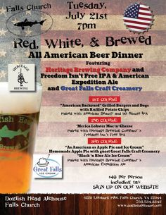 Red, White, & Brewed: All American Beer Dinner